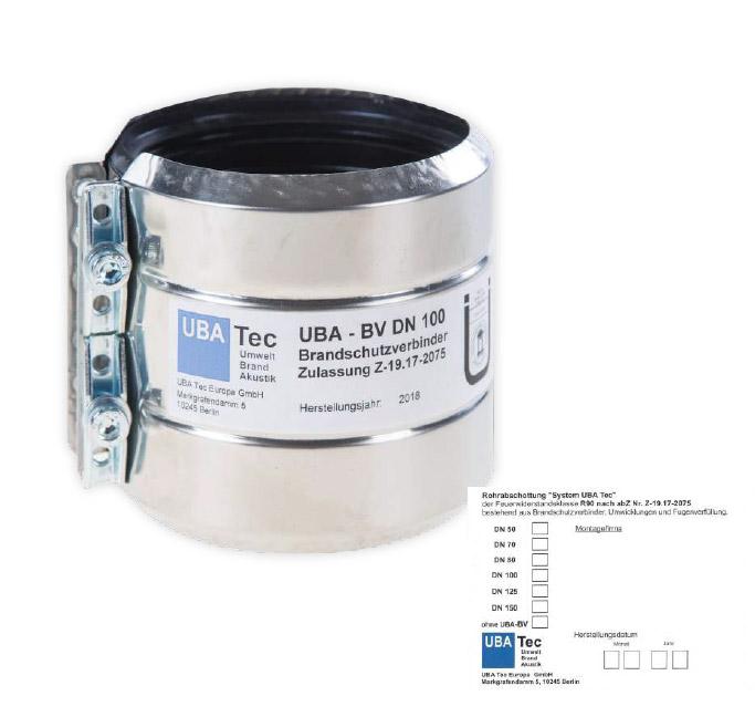 UBA-BV (Brandschutzverbinder) inkl. Kennzeichnungsschild