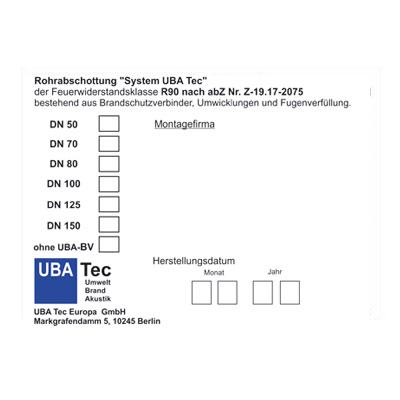 Kennzeichnungsschild-Z-19-17-2075